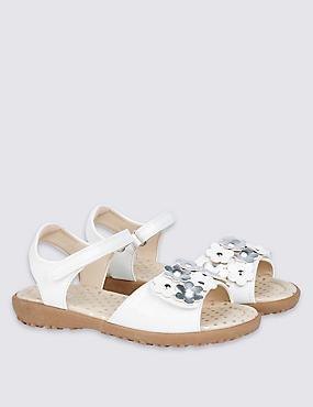 Kids' Riptape Sandals, WHITE, catlanding