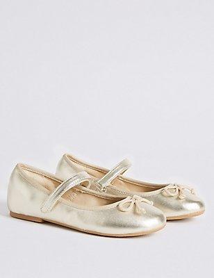 Kids' Ballerina Shoes, GOLD, catlanding
