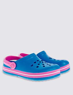 Kids' Pull-on Clogs, BLUE, catlanding