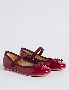 Kids' Riptape Ballerina Shoes, BERRY, catlanding