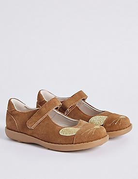 Kids' Bunny Cross Bar Shoes, TAN, catlanding