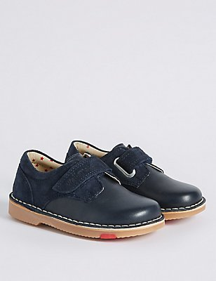 Kids' Leather Walkmates Driving Shoes, NAVY, catlanding