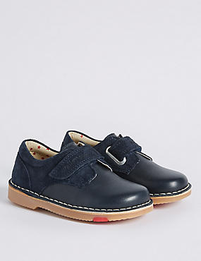 Kids' Leather Walkmates Derby Shoes, NAVY, catlanding