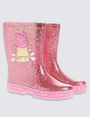 Kids' Peppa Pig™ Wellington Boots, PINK MIX, catlanding