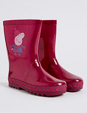 Kids' Peppa Pig™ Wellies, PINK, catlanding