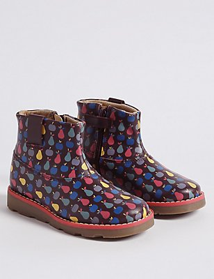 Kids' Leather Ankle Boots, MULTI, catlanding