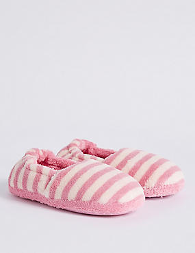 Kids' Striped Slippers, PINK MIX, catlanding