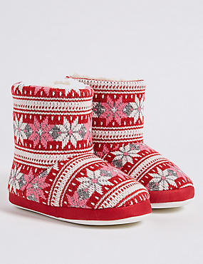 Kids' Fairlise Slipper, RED, catlanding