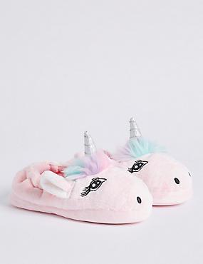 Kids' Slip-on Unicorn Slippers, MULTI, catlanding