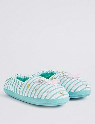 Kids' Fairy Striped Slipper Shoes, , catlanding