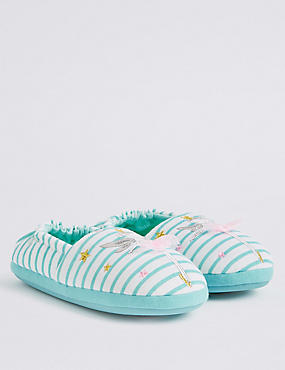 Kids' Fairy Striped Slipper Shoes, MULTI, catlanding