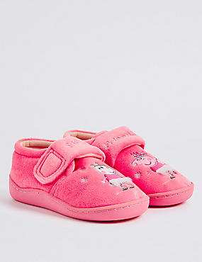 Kids' Peppa Pig™ Slippers, PALE PINK MIX, catlanding
