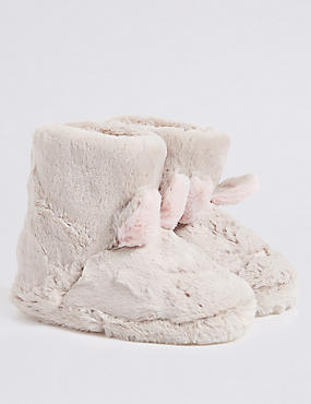 Kids' Bunny Slipper Boots, MINK MIX, catlanding