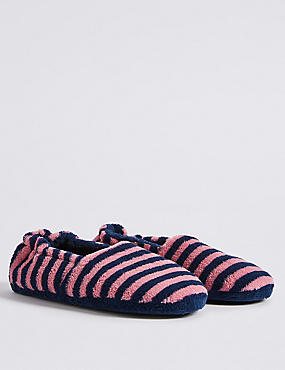 Kids' Striped Slipper, PURPLE MIX, catlanding
