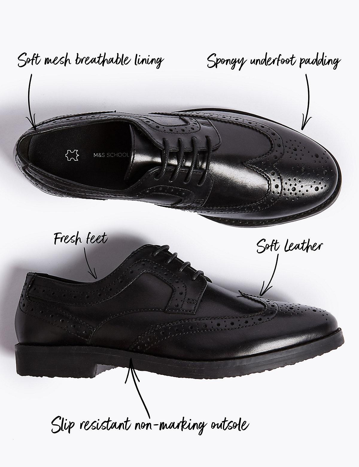 Детские кожаные школьные туфли Brogue