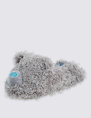 Kids' Pull On Slippers, GREY, catlanding
