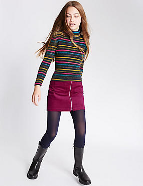 2 Piece Top & Skirt Outfit (5-14 years), BERRY, catlanding