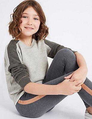 Katoenrijk sweatshirt met lange mouwen (3-14 jaar), GRIJS MIX, catlanding