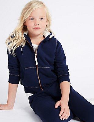 Hooded Sweatshirt (3-14 Years), DARK BLUE, catlanding