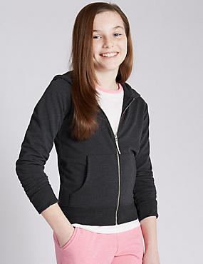Zipped Through Hooded Sweat Top (5-14 Years)