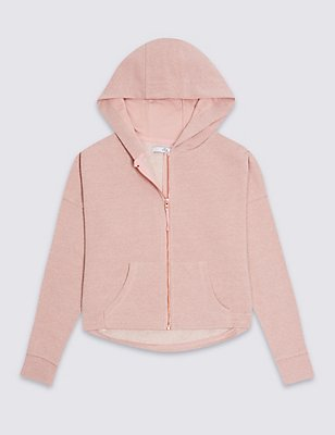 Cotton Blend Hooded Top (3-14 Years), PINK MIX, catlanding