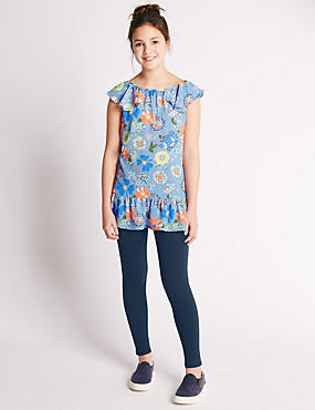 2 Piece Floral Frill Top & Leggings Outfit (5-14 Years)