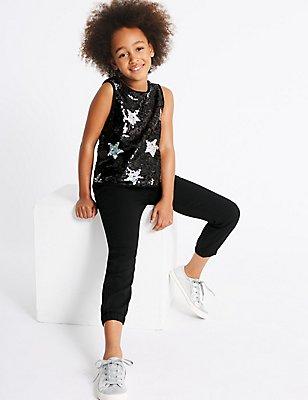 Star Sequin Jumpsuit (3-14 Years), BLACK MIX, catlanding