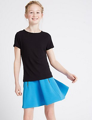 2 Piece Skater Skirt Outfit (3-14 Years), TURQUOISE MIX, catlanding