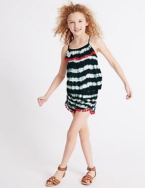 2 Piece Top & Shorts Outfit (3-14 Years), BLACK MIX, catlanding