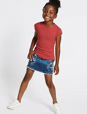 2-teiliges Outfit bestehend aus Oberteil und Rock (3–14 Jahre), MEHRFARBIG, catlanding