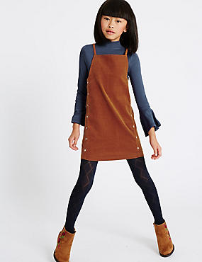 2 Piece Top & Dress Outfit (3-14 Years), BROWN MIX, catlanding