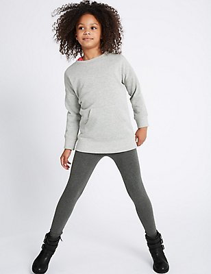 2 Piece Cotton Rich Top & Bottom Outfit (3-14 Years), GREY MARL, catlanding