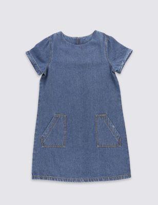 Платье A-силуэта для девочки 3-14 лет M&S Collection T741744E