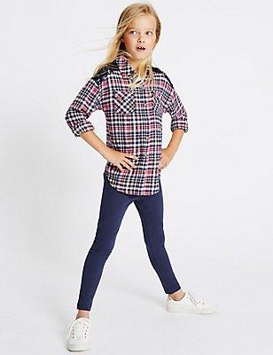 2-teiliges Outfit mit Hemd und Leggings (3–14 Jahre), MEHRFARBIG, catlanding