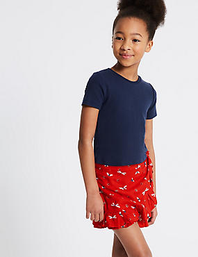 2 Piece Top with Skirt Outfit (3-16 Years), POPPY MIX, catlanding