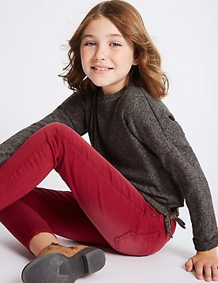 Tie Front Top (3-14 Years), DARK GREY, catlanding