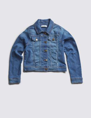 Джинсовая куртка для девочки 5-14 лет от Marks & Spencer