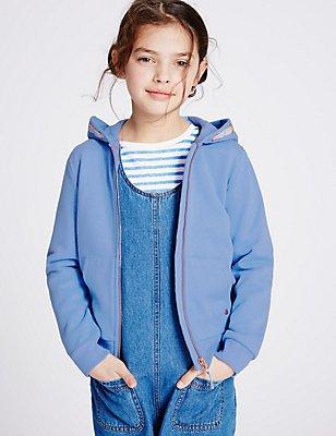 Long Sleeved Hoody (3-14 Years), BLUE, catlanding