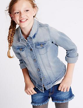 Veste en jean de coton extensible (du 3 au 14ans), DENIM, catlanding