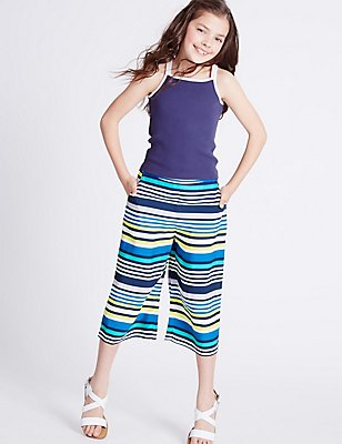 Striped Culottes Trousers with StayNEW™ (3-14 Years), MULTI, catlanding