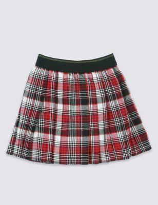 "Фланелевая юбка в стиле ""килт"" для девочки 5-14 лет T743114P"