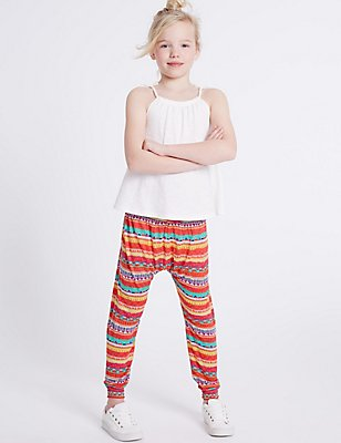 Aztec Print Trousers (3-14 Years), MULTI, catlanding