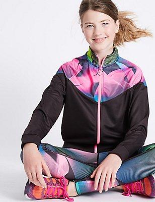 Bedrucktes Sweatshirt mit durchgehendem Reißverschluss (5–14 Jahre), MEHRFARBIG, catlanding