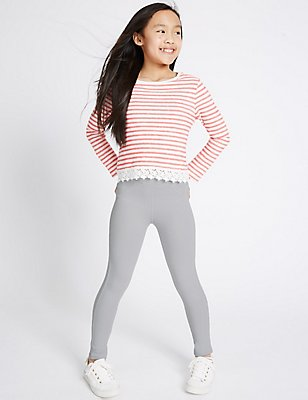 Cotton Rich Jeggings (5-14 Years), GREY, catlanding