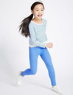 Cotton Rich Jeggings (5-14 Years), BRIGHT BLUE, catlanding