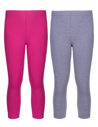 2 Pack of Assorted Coloured Leggings (5-14 Years) Clothing