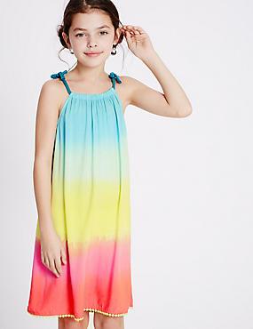 Rainbow Print Dress (3-14 Years), MULTI, catlanding