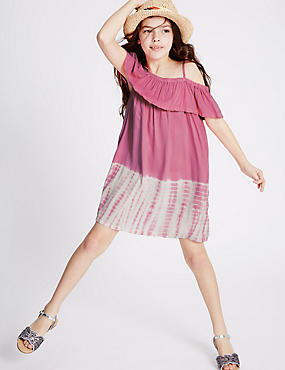 Tie Dye Dress (3-14 Years), PINK MIX, catlanding