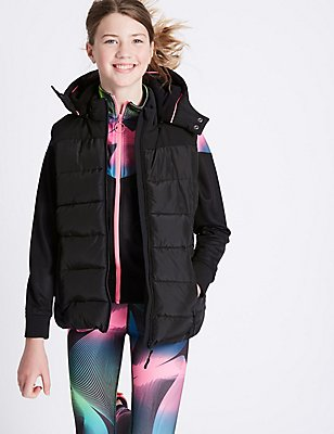 Padded Gilet with Stormwear™ (3-16 Years), Black, catlanding