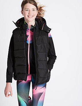 Padded Gilet with Stormwear™ (3-16 Years), DARK PURPLE, catlanding